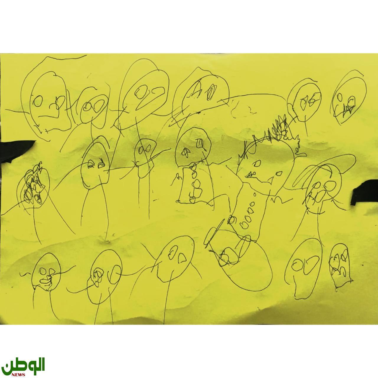 تحليل ( لوحة  اشباح من الحبشة)  للطفل ( ف.  م. ع )